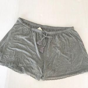 Gillian & O'Malley grey pajama sleep shorts